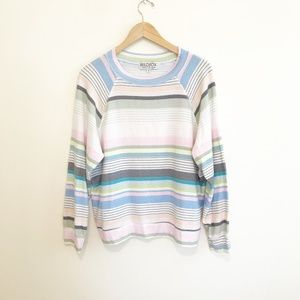 Wildfox Multi Colored Stripe Sweater Size Small